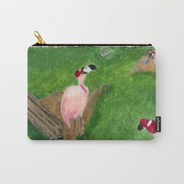 Yard Flamingo Horseshoes Carry-All Pouch