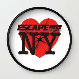 Love Escape From NY Wall Clock