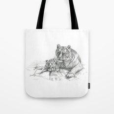 Tiger and cub G2010-001 Tote Bag