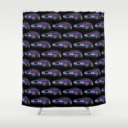 Classic Muscle Car Cartoon Shower Curtain