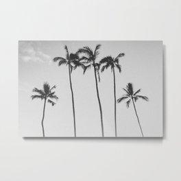 PALM TREES XII / Honolulu, Hawaii Metal Print