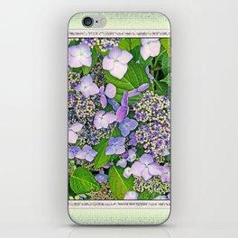 MAGIC LACECAP HYDRANGEA iPhone Skin