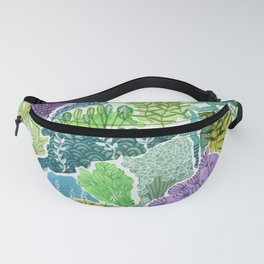 Tropical Tapestry Watercolor Fanny Pack