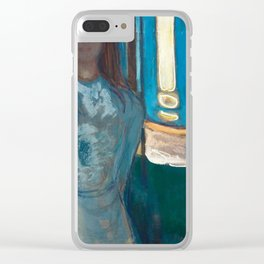 The Voice, Summer Night by Edvard Munch Clear iPhone Case