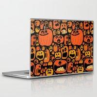 pumpkin Laptop & iPad Skins featuring Pumpkin Pattern by Chris Piascik