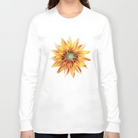sunflower Long Sleeve T-shirts featuring Sunflower by Klara Acel