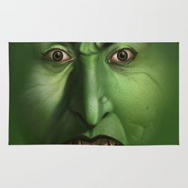 Green Witch face Rug