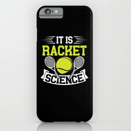 Racket science iPhone Case