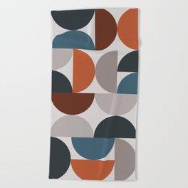 Mid Century Modern Geometric 25 Beach Towel