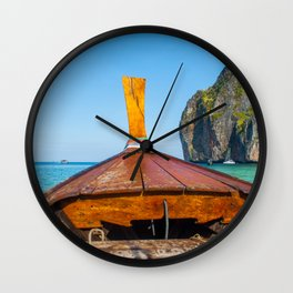 South Pacific Boat Launch Wall Clock