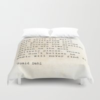 roald dahl Duvet Covers featuring Glittering Eyes by ShadeTree Photography