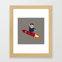 The Nuclear Rider Framed Art Print