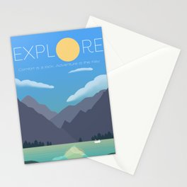 Explore - Adventure is the Key Stationery Cards