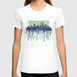 Seattle 12th Man Seahawks Painting Legion of Boom Art T-shirt