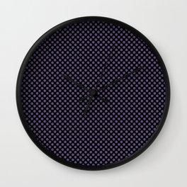 Black and Imperial Palace Polka Dots Wall Clock