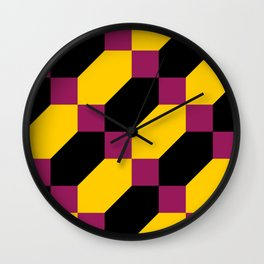 Polygons and squares. Simple. I thought about a chainmail, don't know why. Wall Clock