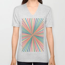 Colourful Graphic with Dots Unisex V-Neck