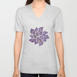 Floral Abstract 13 Unisex V-Neck