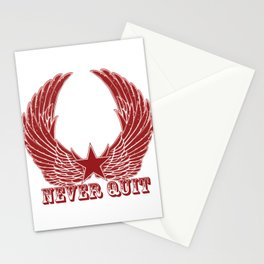 Never Quit Stationery Cards