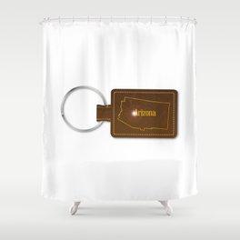 Arizona Leather Key Fob Shower Curtain