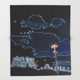 Night Stroll - Dark Mode Throw Blanket