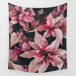 Pink Poinsettia Wall Tapestry