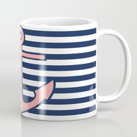 anchor Mugs featuring Anchor by dani