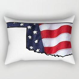 Patriotic Oklahoma Rectangular Pillow
