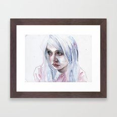 creepychan on moleskine Framed Art Print