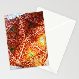 Fire Origami Stationery Cards