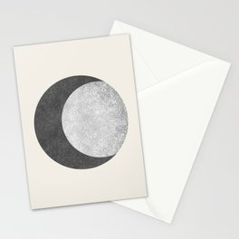 Moon Crescent - Monochrome Stationery Cards