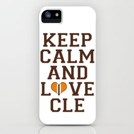 LOVE CLE BROWNS II iPhone Case