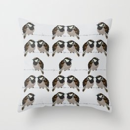 Little sparrows Throw Pillow