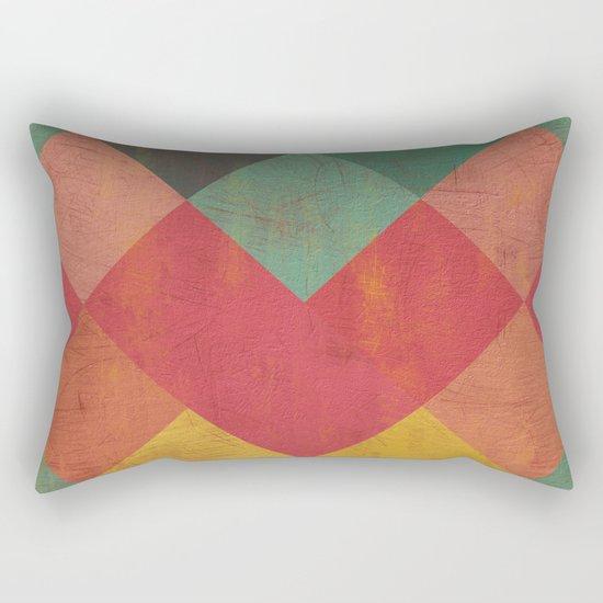 Aztec Vintage Pattern 11 Rectangular Pillow