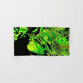 lionfish vector art green Hand & Bath Towel