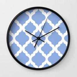 Blue rombs Wall Clock