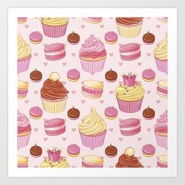 Pink Dessert Art Print