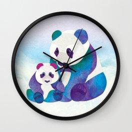 Alfie & Alice the Pandas Wall Clock