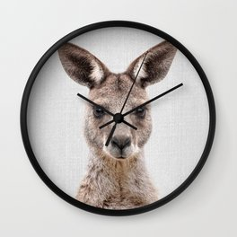 Kangaroo 2 - Colorful Wall Clock