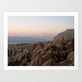 Sunset Over Kapadokya Art Print