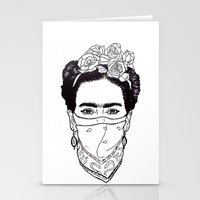 rebel Stationery Cards featuring Rebel by Diego L.D.
