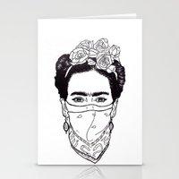 rebel Stationery Cards featuring Rebel by Diego La Diabla