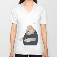 the office V-neck T-shirts featuring Office Zombie by samcoxart