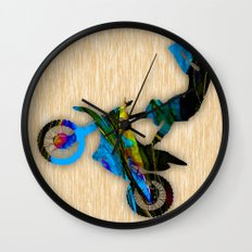 Dirt Bike Wall Clock