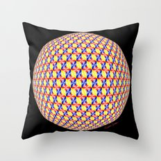 Primary Hexa Throw Pillow