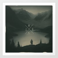 wander Art Prints featuring Wander by Lundi