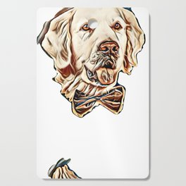 Golden retriever dog with bow tie        - Image Cutting Board