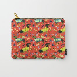 Sweater Weather Dachshund Pattern Carry-All Pouch
