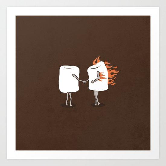 Mallow on Fire Art Print