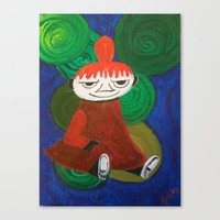 moomin Canvas Prints featuring Little My by Nita Bond